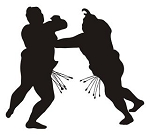 Sumo Wrestler Silhouette v2 Decal Sticker